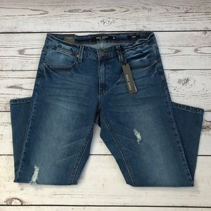 Max Jeans Destroyed Capri Jeans NWT Sz 8